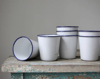 Swedish Enamel Cups, Ker Sweden Cups, Vintage Enamel Cups, Enamel Camping Cups, Enamel Pots, Scandinavian Enamelware, Enamelware Picnic Cups