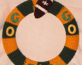 Green Bay Packers Wreath Green and Gold Door Hanger