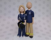 Firefighter & Nurse Personalized Wedding Cake Topper - reserved for ragancaitlin