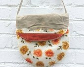 the sienna floral bag ... one of a kind, vintage cotton, cross body bag
