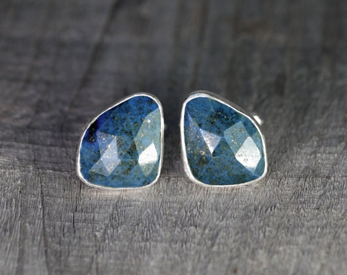 Lapis Lazuli Cufflinks Set In Sterling Silver, Blue Wedding Gift For Him, 21ct Lapis Cufflinks, Handmade In UK