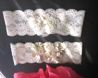 Sale New Garter,Garter Set,Plus Size Garter,Rhinestone Garter Set,Lace Garter,Bridal Garter,Ivory lace garter,lace garter,Pearl Garter