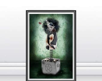 A3 Art Print - Large Print - Jack In A Box - Claustrophobia