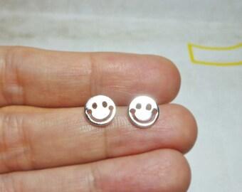 Smiley Face Stud Earrings
