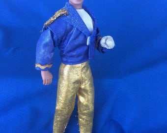 Vintage 80's Michael Jackson Doll King of Pop Action Figure Poseable Celebrity Rock & Roll Toy with Grammy Awards Authentic Stage Outfit