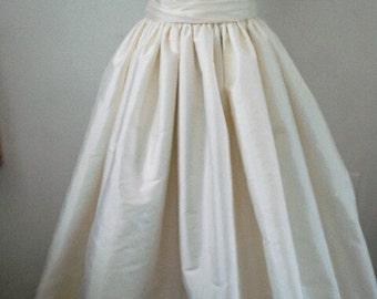 Silk Ball Gown Wedding Skirt