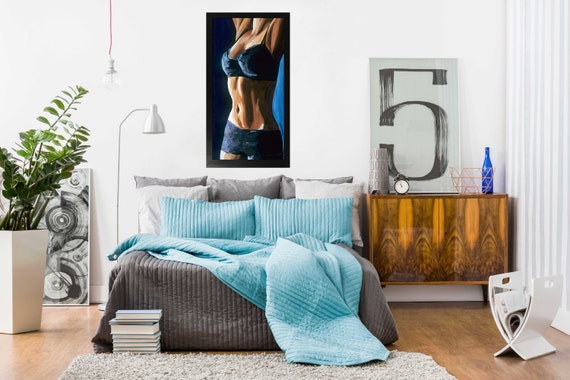 Female Figurative Sensual Bedroom Wall Art Limited By