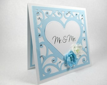 Wedding cards, wedding day cards, Mr & Mrs, Congratulations, bride and groom, elegant wedding cards, hearts