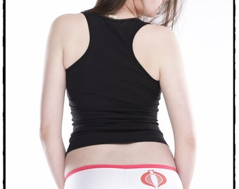 Cobra Inspired Banded Low Rise Booty Shorts by BKCC