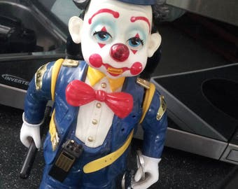 Vintage Toy 1989 Hong Kong BUMP'N BENNY Police Figure Clown Display Prop