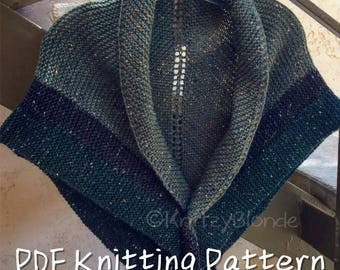 PDF Knitting Pattern Claire's Rent Shawl Outlander-Replica Triangle Shawl