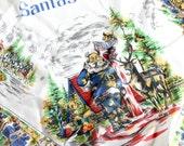 Vintage Santa's Village Scarf Christmas Amusement Theme Park Souvenir