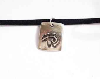 Sterling bear necklace, bear fetish pendant, southwest jewelry