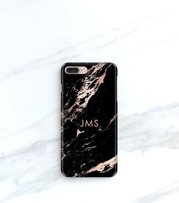 Rose Black Marble Phone Case