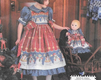 Simplicity 0692 UNCUT Daisy Kingdom Girls Dress Pinafor and Doll Dress Sewing Pattern Sizes 3 4 5 6