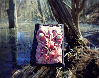 Necronomicon one of a kind blank sketchbook sculpted cover