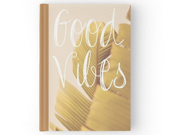 Good Vibes Palm Leaves - Hardcover Typography Journal