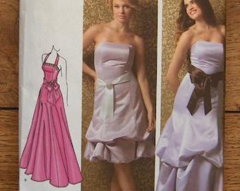 2007 Simplicity pattern 3885 Misses Special Occasion Dress with Hem Variations sz 6-14 UNCUT
