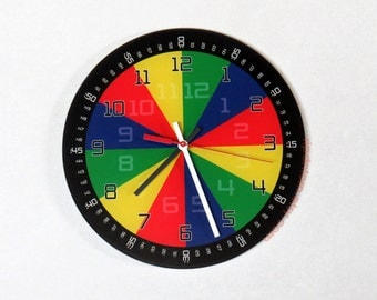 Learn to Tell Time Clock - High Quality, Acrylic, 10.75 inch diameter - Clock Gift for Special Needs Student, Teacher, Classroom