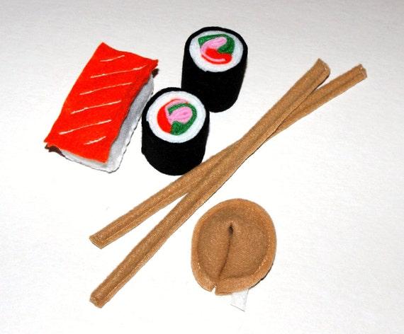 Felt Food- Mixed Sushi Set-Childrens toys-Kitchen toys-Soft Toys-Play kitchen toys-Play Food-Toddler toys-Felt Toys-Toy food