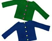 Classic Children Cardigan Sweater - 8 Sizes - PDF Crochet Pattern - Instant Download