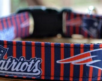 Patriots dog collar & leash