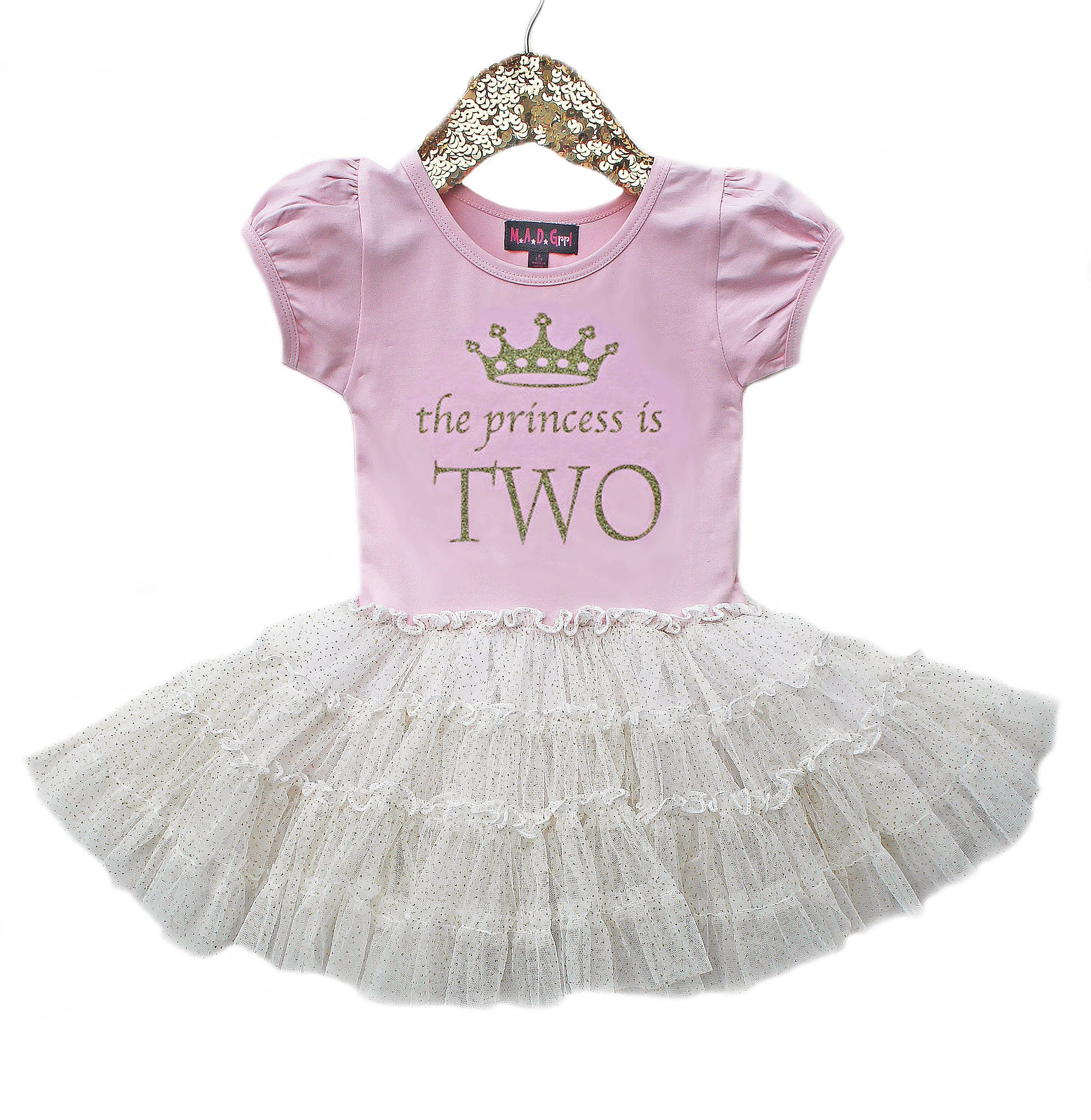 2nd Birthday Outfit Dress Pink And Gold Tutu For