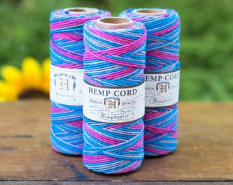 Hemp  Cord, 1mm,  205 Feet,   Jewelry Cord, Hemp String, Dance Off   -T48