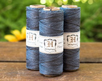 Charcoal Grey Hemp Twine,   .5mm, 10b, 205 Feet, Grey Hemp Cord, Bead Cord -TW27