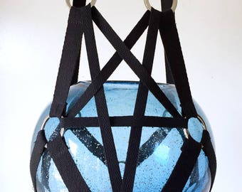 Pentagram Plant Hanger - 36 inches tall - works with 6-8 inch pot