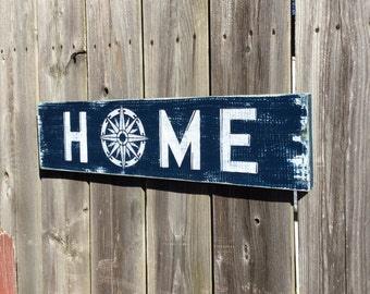 Nautical Sign HOME Nautical Nursery Beach Decor