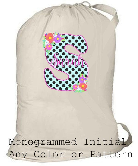 Large Laundry Bag, Personalized Summer Camp Bag, Children's Camp Totebag, Monogrammed Beach Bag, Graduation Gift, Grad Gift, Girl's Birthday