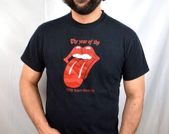 Vintage 1979 70s 1970s Rolling Stones Team Awards Tshirt Tee Shirt