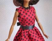"Silkstone Barbie Fashion OOAK - 6 Pieces - ""Lady Bug"" - FREE SHIPPING"