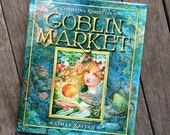 Goblin Market Book - illustrated art book by Omar Rayyan - Rossetti - poem - graphic novel - literature - fantasy