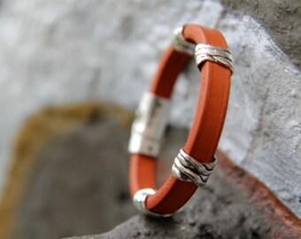 Extra thick camel leather bracelet