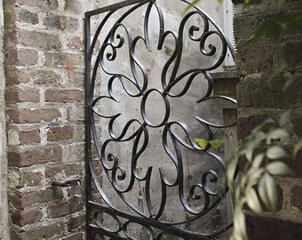 Charleston SC Fine Art Print, Wrought Iron Garden Gate, South Carolina Photography, Home Decor Wall Art, Travel Picture, Garden Print