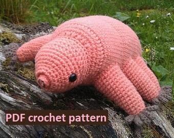 Tardigrade (water bear) - crochet pattern PDF