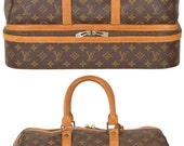 LOUIS VUITTON Sac Sport Monogram Carry On Duffle Bag Luggage Suitcase Travel Made in France Very Rare Guaranteed Authentic
