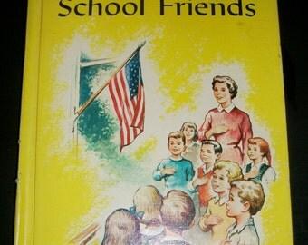 Vintage School Reader Living as School Friends