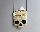 Mushroom skull necklace No. 2