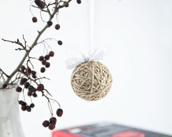 Shabby chic ornaments - Rustic ornaments set - Christmas decoration rustic - Shabby chic decor
