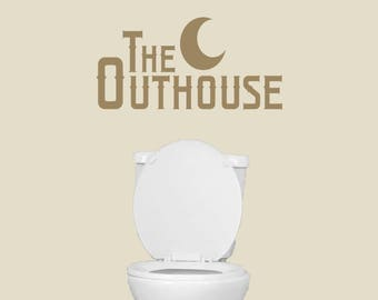 The Outhouse - Bathroom Man Cave Wall Decals
