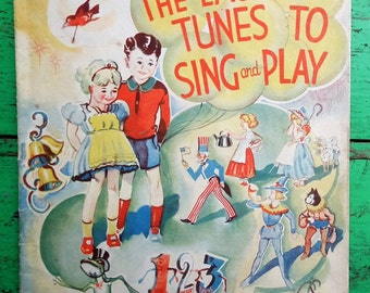 The Easiest Tunes to Sing and Play 1936 The Children's Hour Book 1 Ernest Haywood Keith Prowse UK Vintage 1930s 30s Song Book Sheet Music