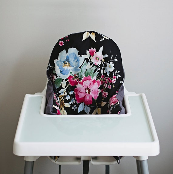watercolor floral ikea antilop highchair cover high. Black Bedroom Furniture Sets. Home Design Ideas