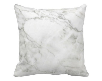 Marble Pillow Cover in White and Grey
