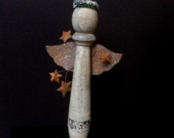 Rustic Angel Primitive Christmas Reclaimed