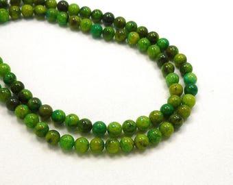 8mm Chrysocolla Blue Green Semi Precious Stone Beads, Full Strand