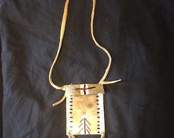 Native American Made Parfleche bag Rawhide pow wow regalia