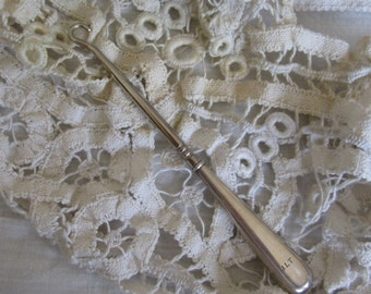 Antique Sterling Silver Button Hook